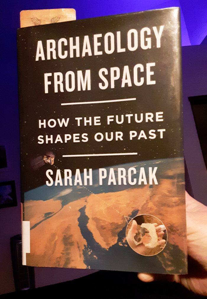 "book cover of ""Archaeology from Space"" by Sarah Parcak"