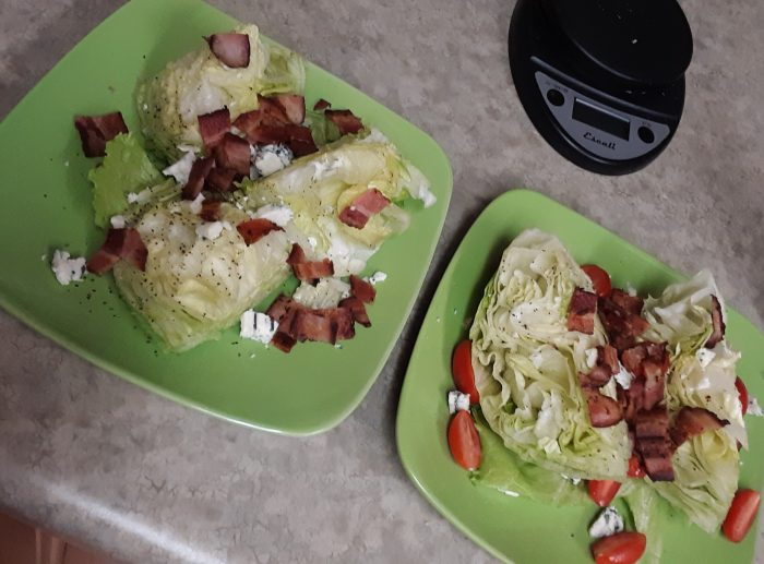 two plates of wedge salad