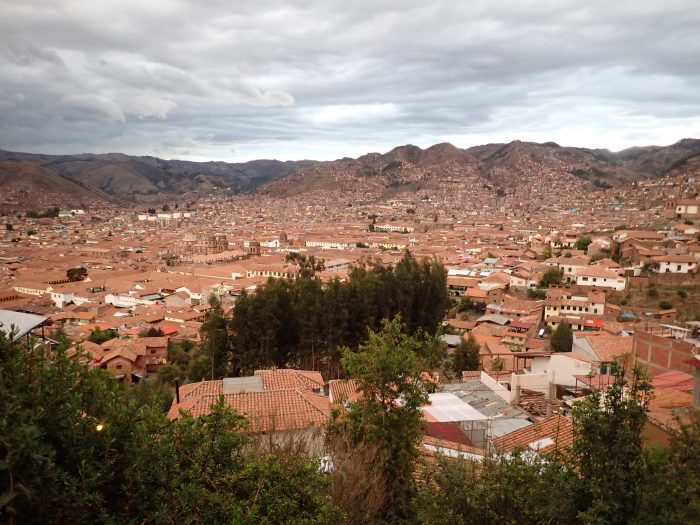 view of Cuzco from San Blas