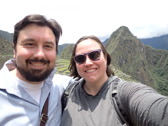 Kirk and I in front of Machu Picchu