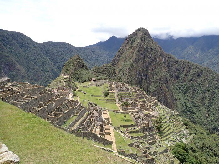 a postcard-like shot of Machu Picchu