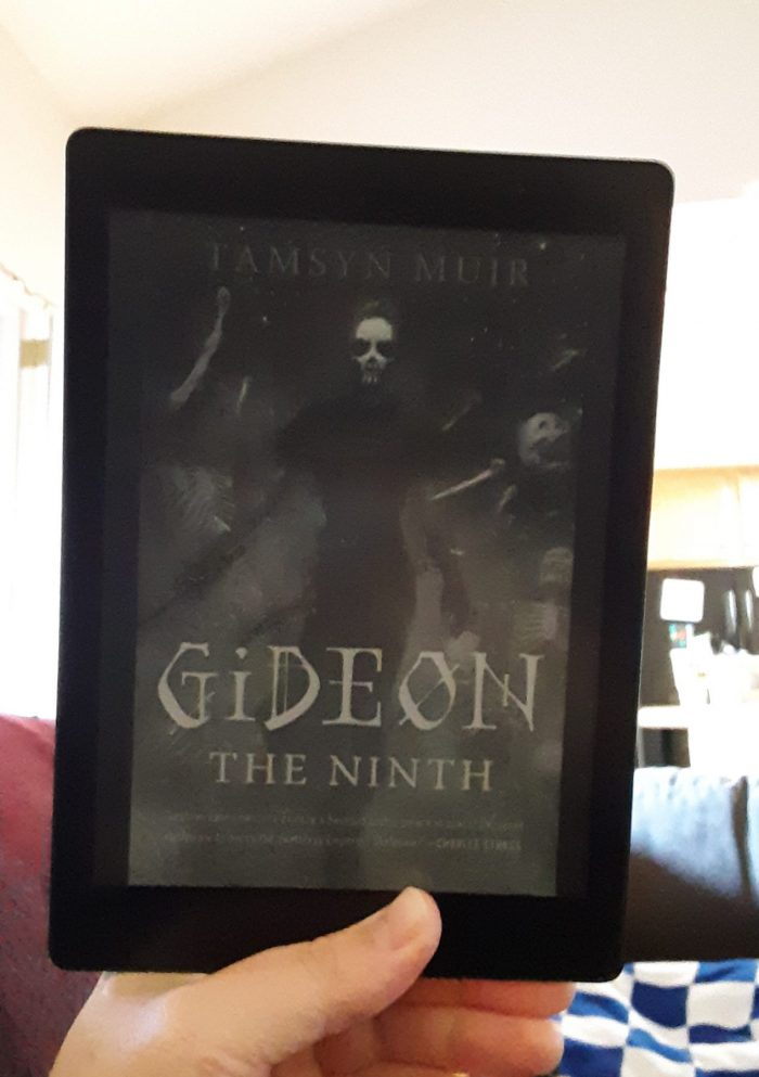 book cover of Gideon the Ninth as seen on the Kobo ereader