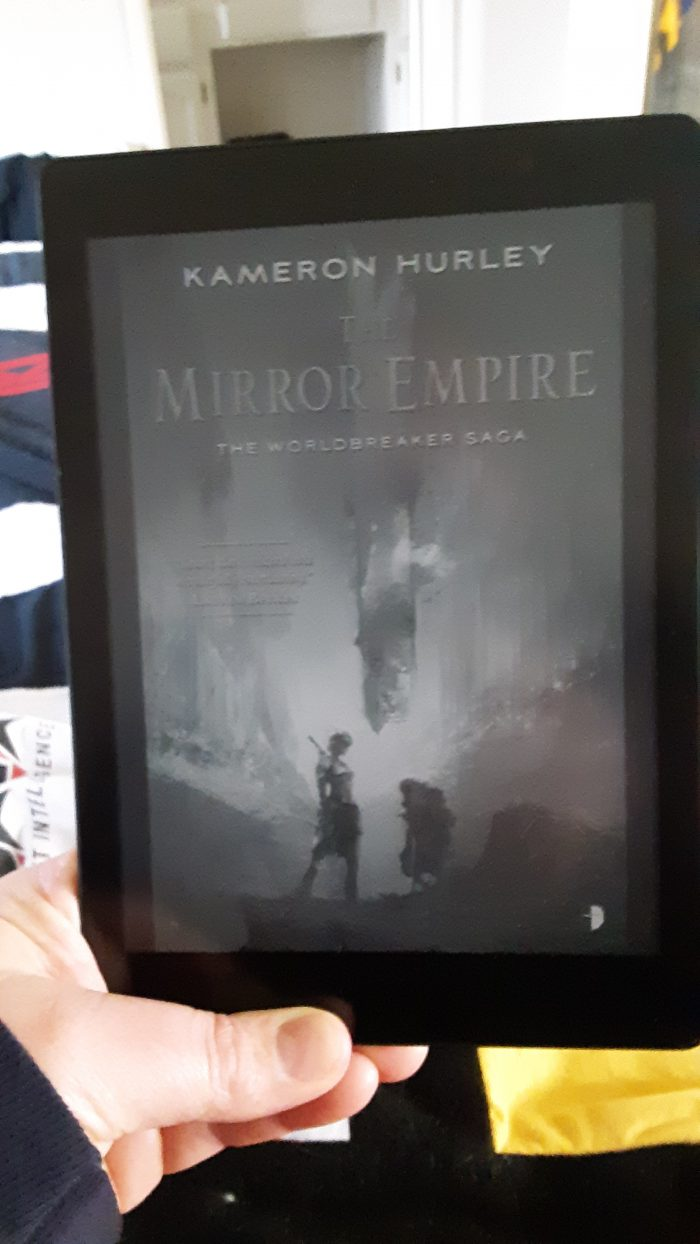 book cover for The Mirror Empire on the Kobo ereader