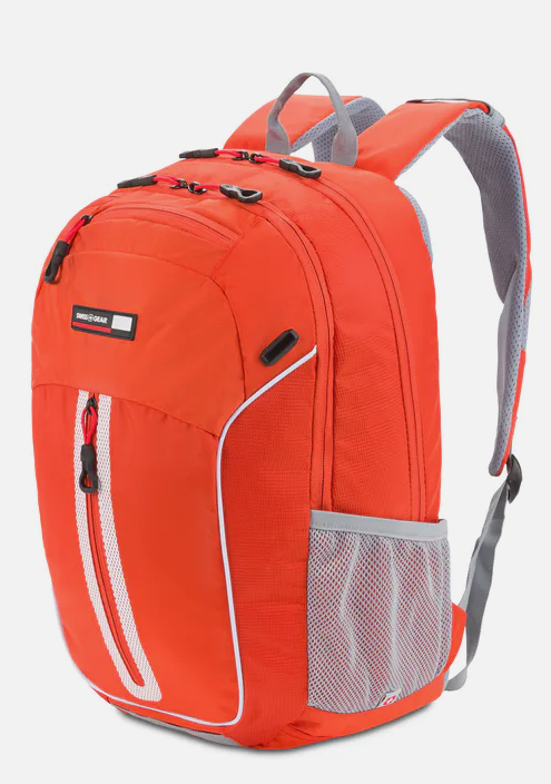 a regular backpack, but bright orange