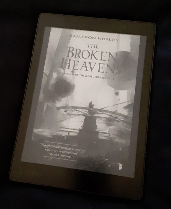 book cover of The Broken Heavens as seen on the Kobo ereader