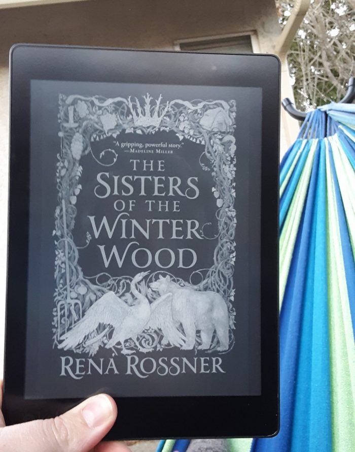 Sisters of the Winter Wood book cover on the Kobo ereader