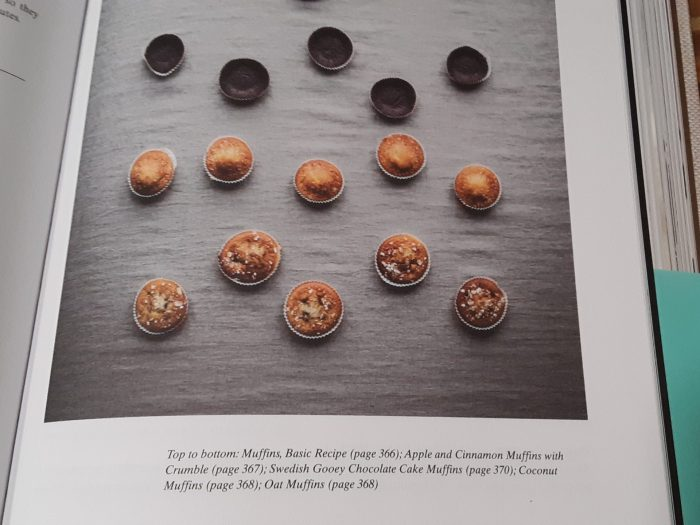 a picture of a page of the Nordic Baking Book showing several muffins