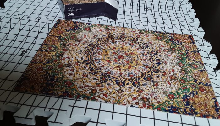 200-piece puzzle of islamic calligraphy/art