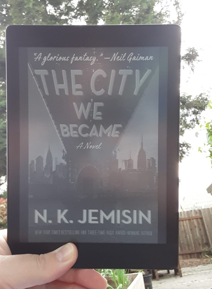 book cover seen on Kobo ereader: The City We Became
