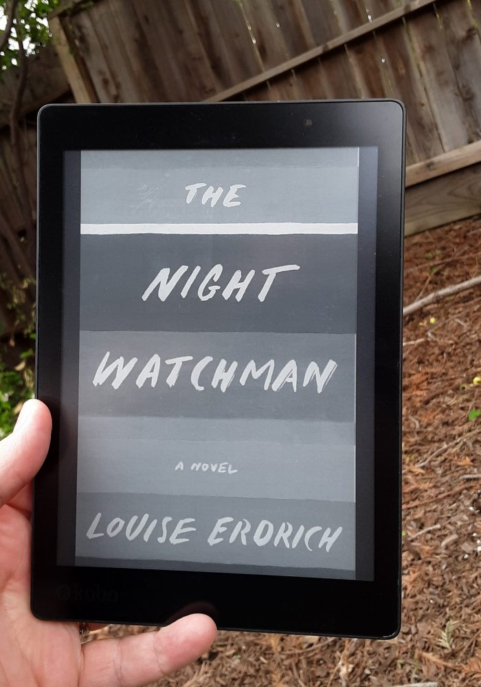book cover for The Night Watchman on Kobo ereader