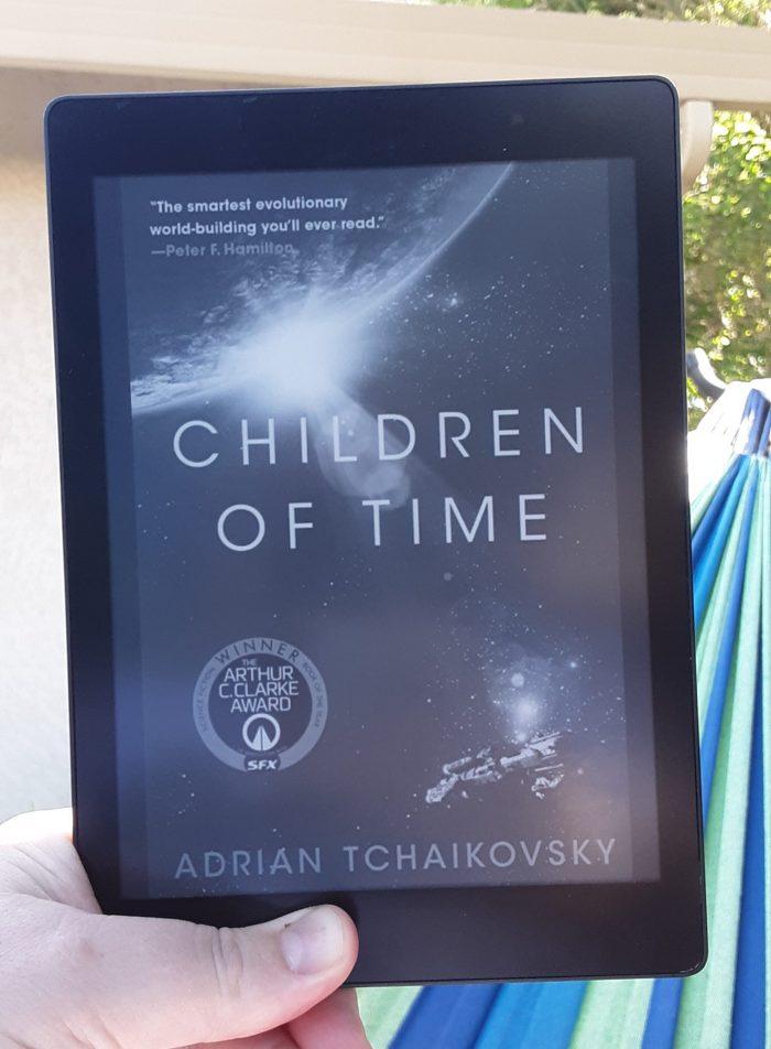 book cover of Children of Time on kobo ereader