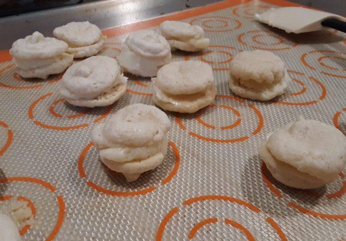 tiny macaron sandwiches