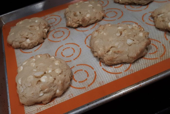 huge cookies: white chocolate macademia nut