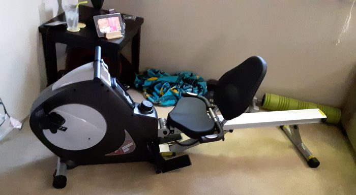 rowing machine/stationary bike newly assembled