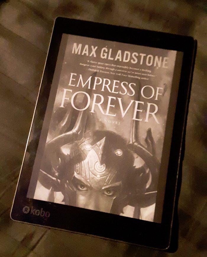 """book cover of """"Express of Forever"""" shown on Kobo ereader"""