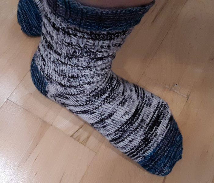 cirrus socks shown on my turned out foot