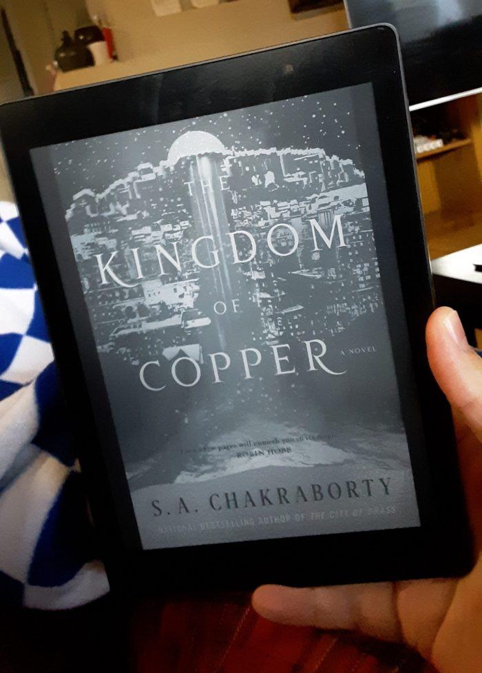 book cover for Kingdom of Copper, shown on kobo ereader
