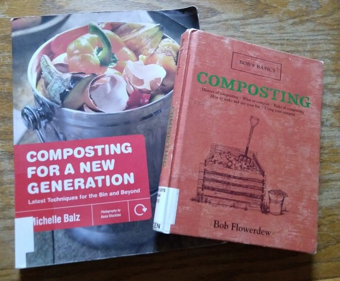 two books. 1) Composting for a New Generation. 2) Bobs Basics Composting