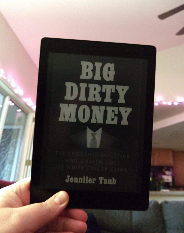 book cover of Big Dirty Money shown on Kobo ereader