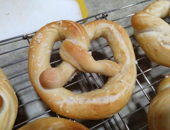 pretzel close up