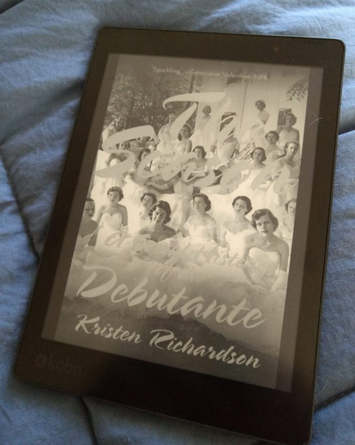 """book cover for """"The Season: A social history of the debutant"""" in black and white as seen on kobo ereader"""
